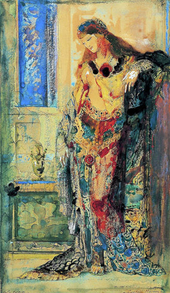 Wall Art - Painting - The Toilette - Digital Remastered Edition by Gustave Moreau