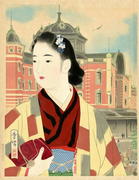 Wall Art - Painting - The Tokyo Station At Present by Yamakawa Shuho