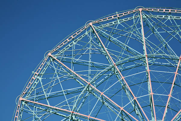 Stationary Photograph - The Top Of A Ferris Wheel, Low Angle by Frederick Bass