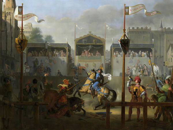 Wall Art - Painting - The Tournament, 1812 by Pierre Revoil