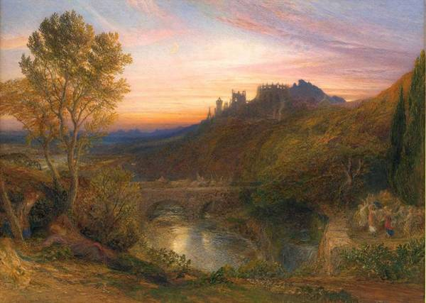 Wall Art - Painting - The Towered City The Haunted Stream By Samuel Palmer, 1815 - 1881 by Samuel Palmer
