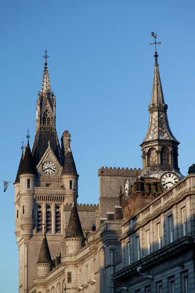 Weather Vane Photograph - The Town Hall Clock Towers by Chris Mellor