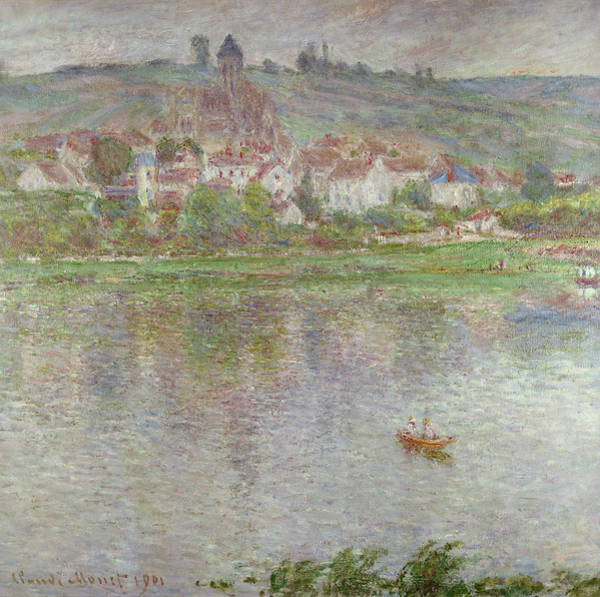 Vetheuil Wall Art - Painting - The Town Of Vetheuil, 1901 by Claude Monet