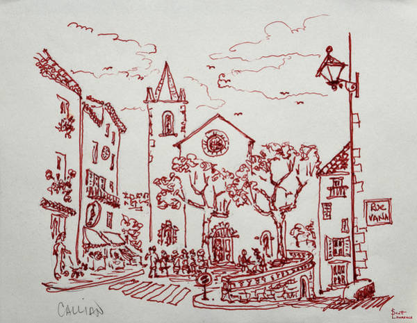 Wall Art - Photograph - The Town Square Of Callian, Var by Richard Lawrence