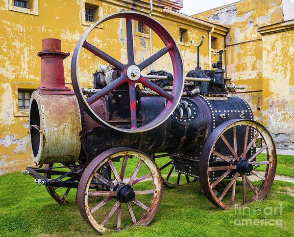 Photograph - The Traction Engine, Former Ushuaia Prison, Argentina by Lyl Dil Creations