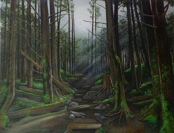Wall Art - Painting - The Trail by Cynthia Sheffield