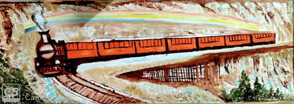 Wall Art - Painting - The Train by Anand Swaroop Manchiraju