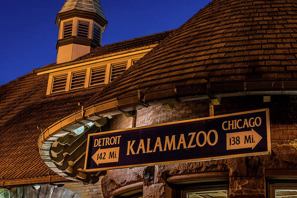 The Train Station In Kalamazoo Art Print