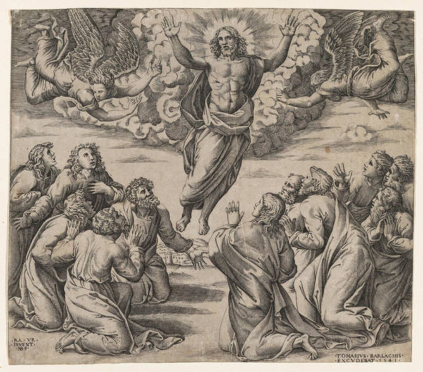 Wall Art - Drawing - The Transfiguration by Nicolas Beatrizet