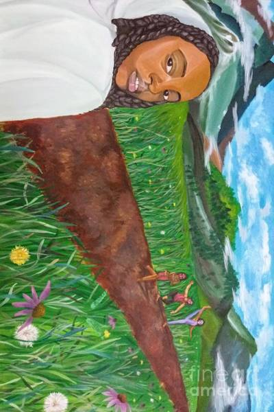 Wall Art - Painting - The Traveler On The Beckoning Path by Yahfa Guerra