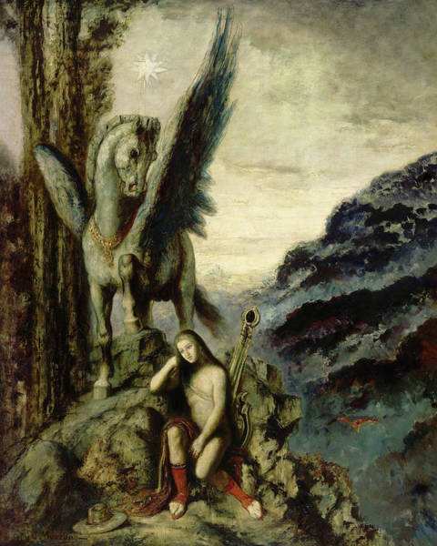 Wall Art - Painting - The Traveler Poet by Gustave Moreau
