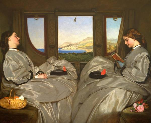 Wall Art - Painting - The Traveling Companions by Augustus Leopold Egg