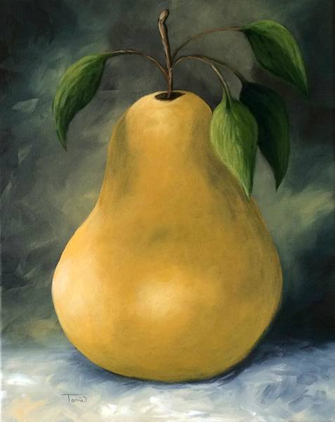 Wall Art - Painting - The Treasured Pear by Torrie Smiley