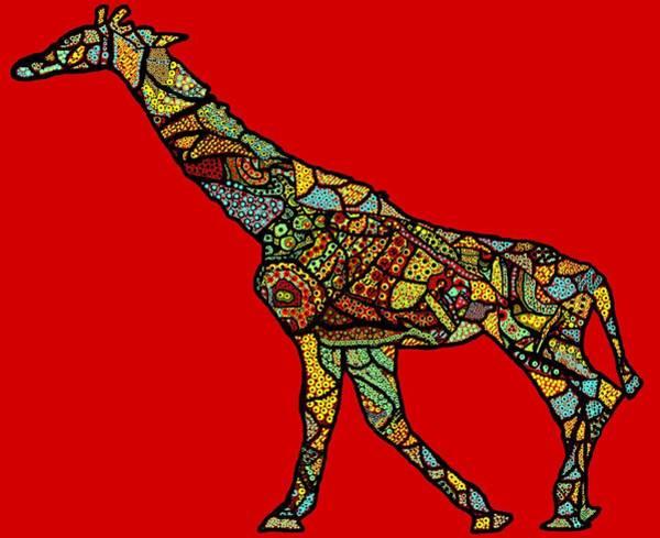 East Africa Digital Art - The Tribal Giraffe  by R C Rawxe Clemens