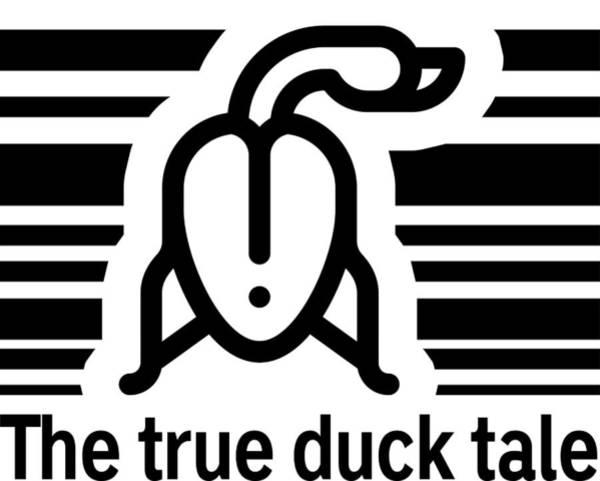Barcode Digital Art - The True Duck Tale by Valdos Dariblack