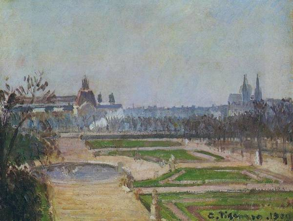 Wall Art - Painting - The Tuileries And The Louvre, 1900 by Camille Pissarro