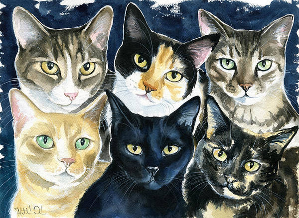 Painting - The Tuna Can Gang by Dora Hathazi Mendes