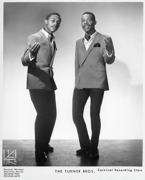 Soul Music Photograph - The Turner Brothers Portrait by Michael Ochs Archives