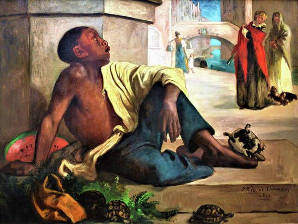 Wall Art - Painting - The Turtle Seller - Digital Remastered Edition by Pierre Puvis de Chavannes