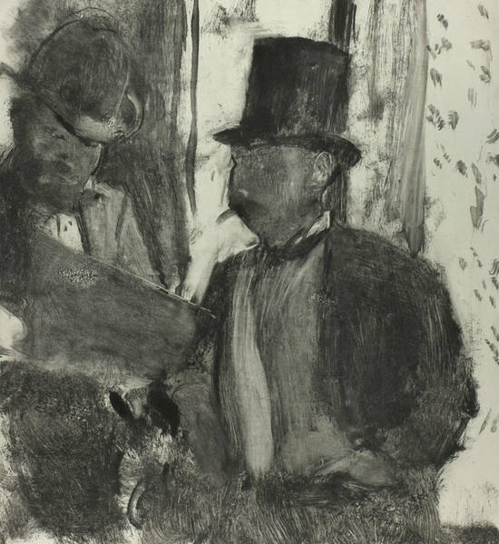 Relief - The Two Connoisseurs by Edgar Degas