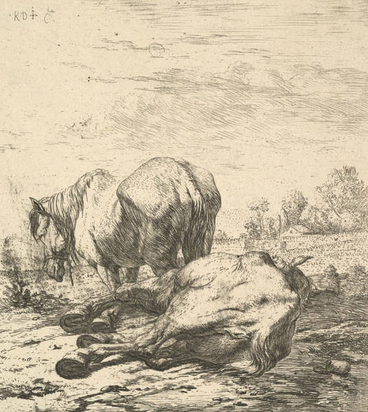 Relief - The Two Horses by Karel Dujardin