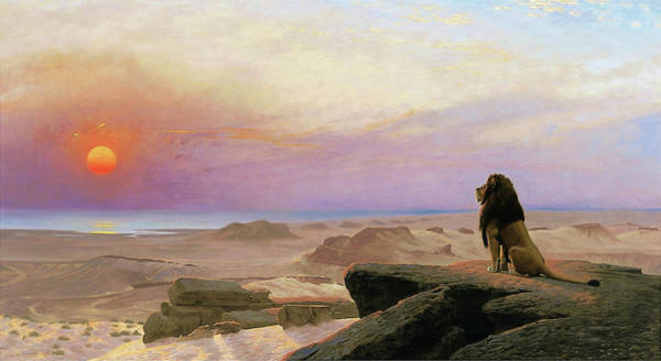 Barren Painting - The Two Majesties - Digital Remastered Edition by Jean-Leon Gerome