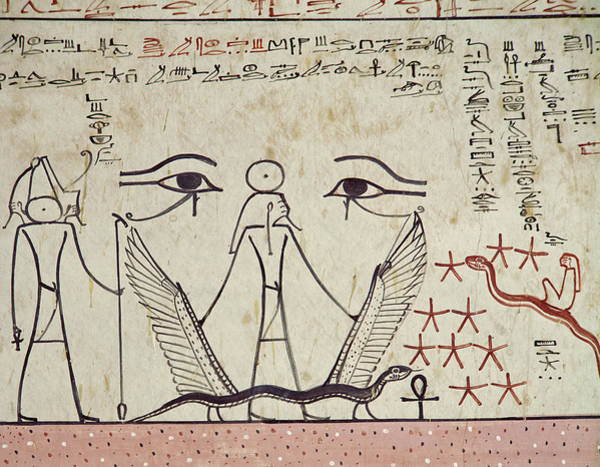 Wall Art - Painting - The Two Mystical Eyes, From The Tomb Of Tuthmosis IIi by Egyptian School