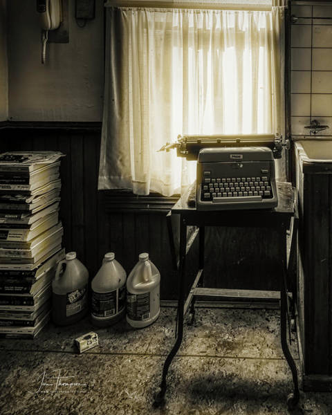 Photograph - The Typewriter by Jim Thompson