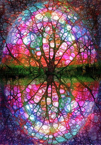 Distortions Digital Art - The Umbrella Tree by Tara Turner