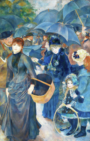 Wall Art - Painting - The Umbrellas - Digital Remastered Edition by Pierre-Auguste Renoir