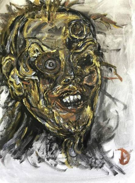 Wall Art - Painting - The Undead by Debora Lewis