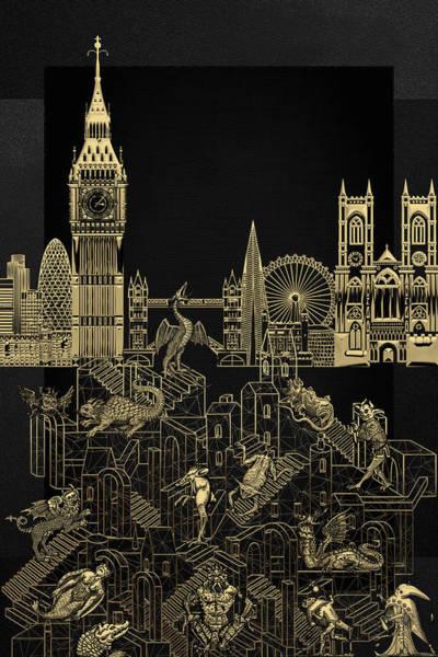 Digital Art - The Underworlds - Underground London by Serge Averbukh