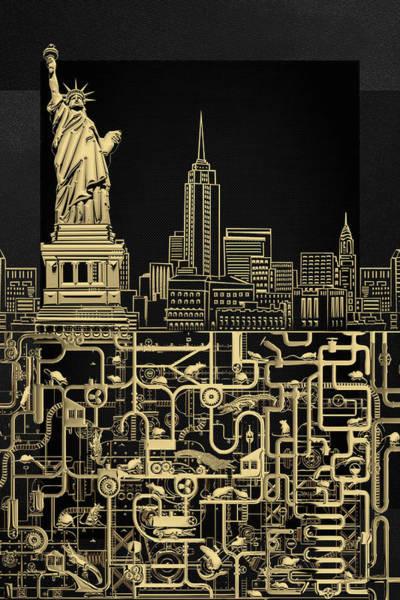 Digital Art - The Underworlds - Underground New York by Serge Averbukh