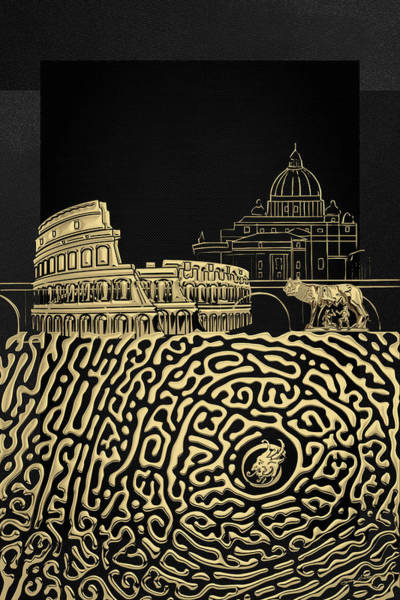 Digital Art - The Underworlds - Underground Rome by Serge Averbukh