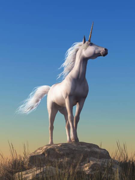 Wall Art - Digital Art - The Unicorn by Daniel Eskridge