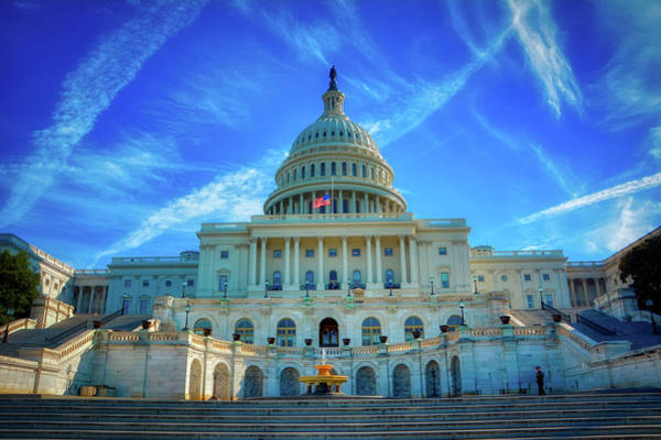 Wall Art - Photograph - The United States Capitol by Pixabay