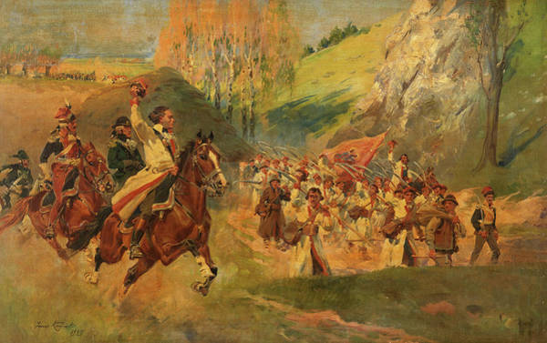 Wall Art - Painting - The Uprising by Jerzy Kossak