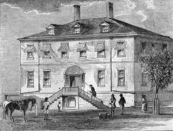 Painting - The Us Treasury Building Built 1804 Harper S Engraving by Celestial Images