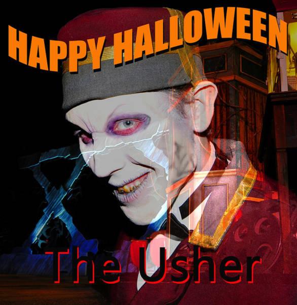 Wall Art - Photograph - The Usher Halloween Card A by David Lee Thompson