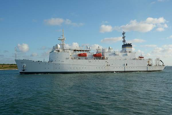 Photograph - The Usns Waters Enters Port Canaveral.  by Bradford Martin