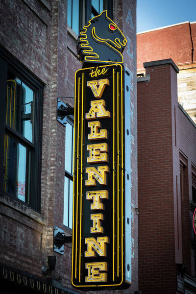 Wall Art - Photograph - The Valentine Broadway Neon Signage Nashville Tennessee Art by Reid Callaway