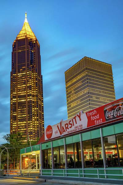 Wall Art - Photograph - The Varsity And Atlanta Skyscrapers by Gregory Ballos