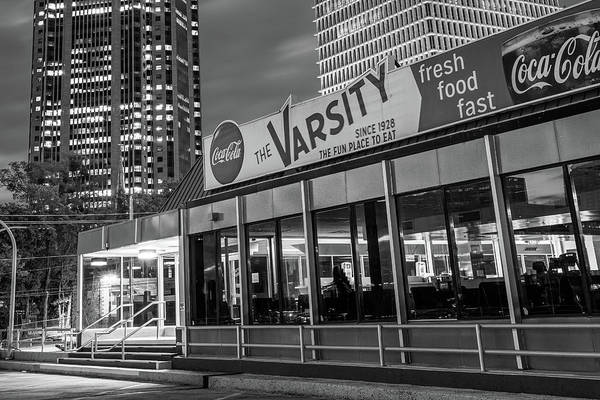 Photograph - The Varsity - Downtown Atlanta Georgia In Monochrome by Gregory Ballos