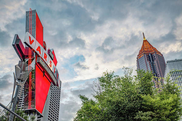 Photograph - The Varsity Neon Under Morning Clouds - Atlanta Georgia by Gregory Ballos