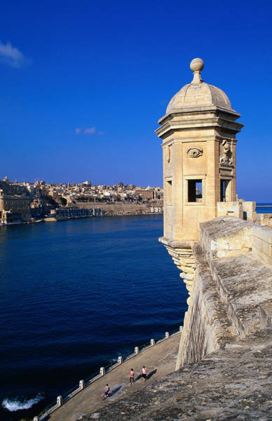 Wall Art - Photograph - The Vedette At Senglea Overlooking The by Michael Gebicki
