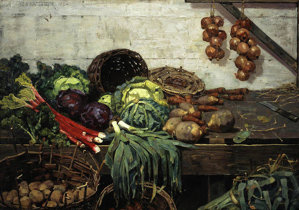 Potato Painting - The Vegetable Stall, 1884 by William York Macgregor