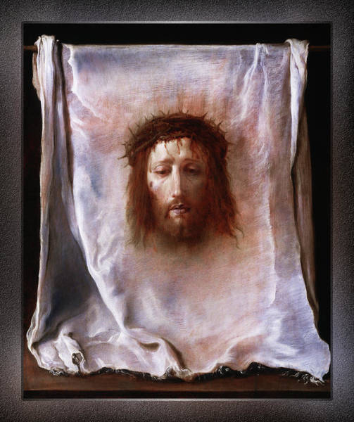 Painting - The Veil Of Veronica By Domenico Fetti by Xzendor7