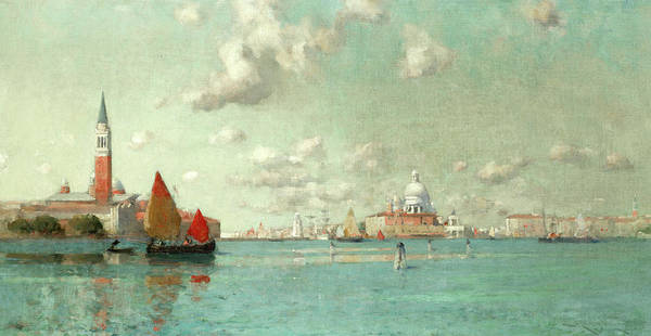 Wall Art - Painting - The Venetian Lagoon by Edward Aubrey Hunt