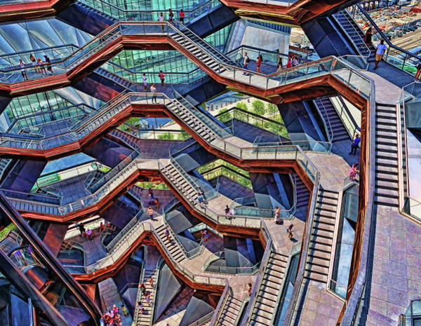 Wall Art - Photograph - The Vessel - Hudson Yards # 6 - N Y C by Allen Beatty