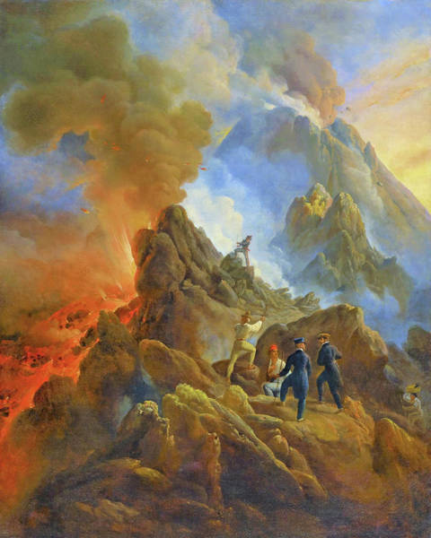 Wall Art - Painting - The Vesuvius Erupting - Digital Remastered Edition by Horace Vernet